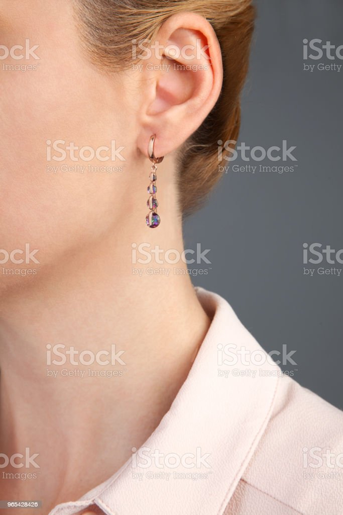 Gem Earring Photography zbiór zdjęć royalty-free