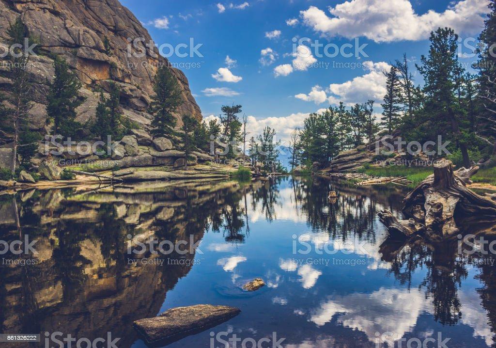 Gem Lake Reflections stock photo