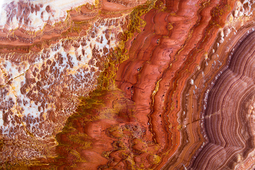 istock Gem onyx close-up, natural cracked texture 952345668
