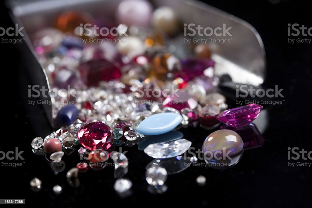 Gem stones stock photo