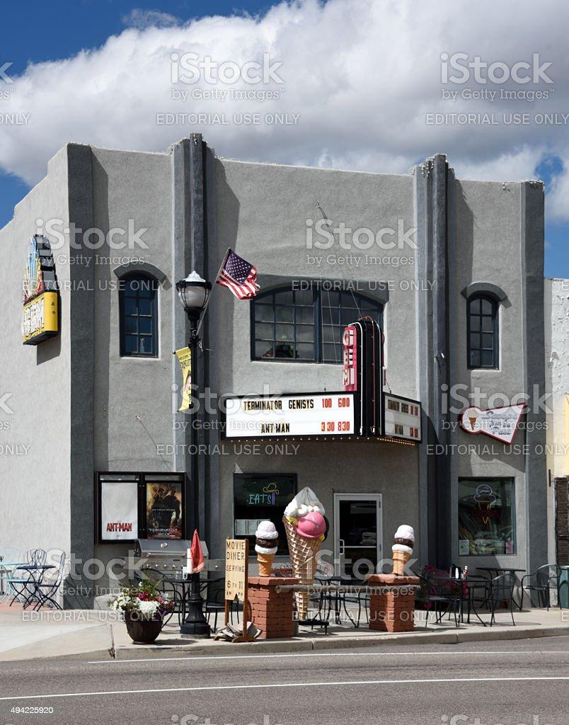 Gem Theatre Panguitch Utah stock photo