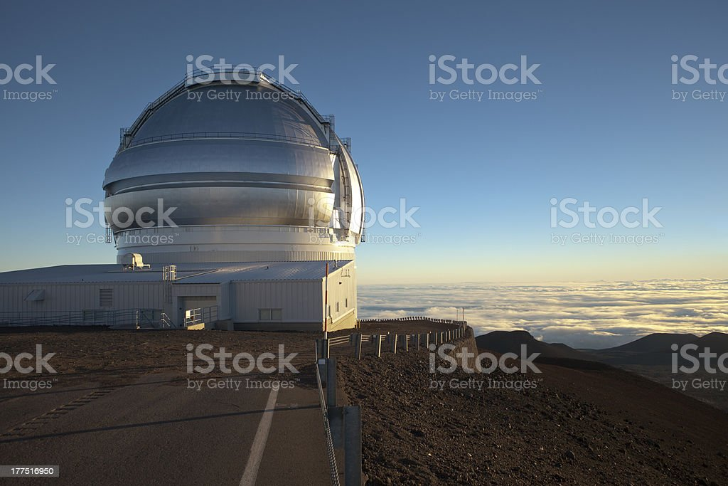 Gemini Observatory, Mauna Kea, Big Island of Hawaii stock photo