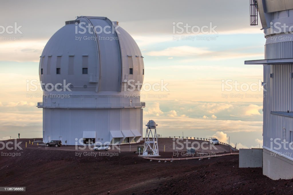 Gemini Observatory on top of Mauna Kea Mountain - Big Island Hawaii, USA stock photo