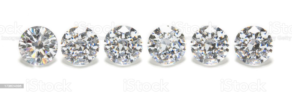 Gems in a row stock photo