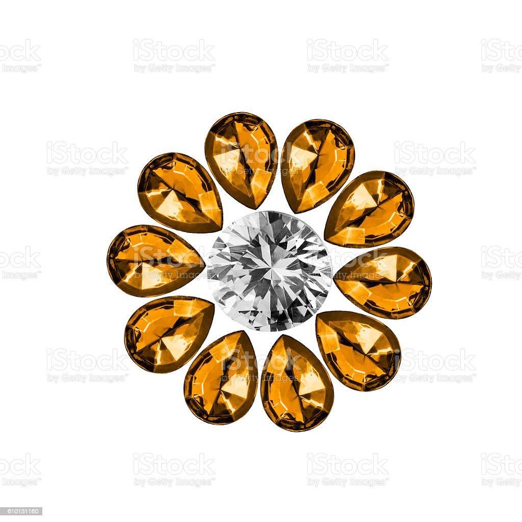 Gems on white stock photo