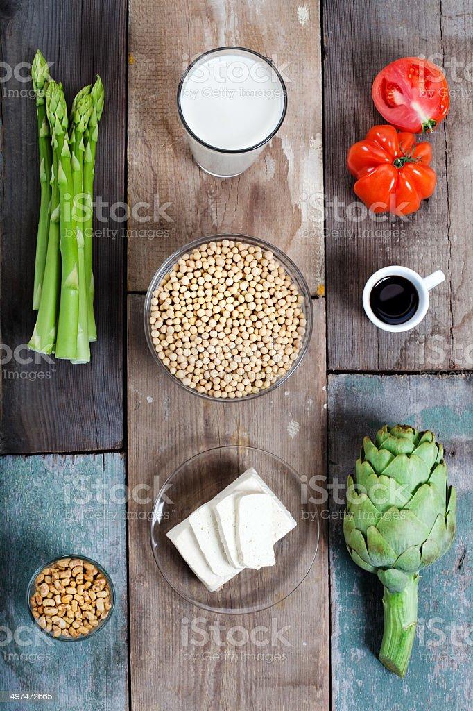 Gemüse und Soja stock photo