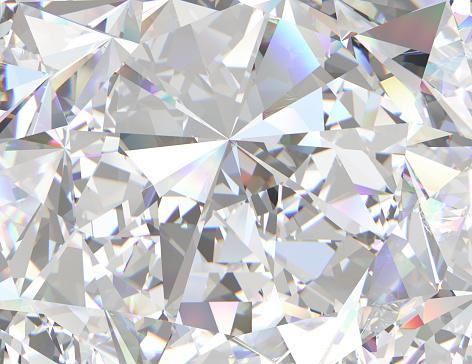 Gemstone or diamond texture close-up. 3d illustration