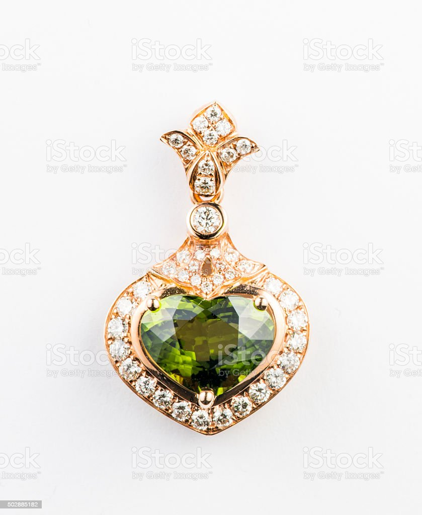 Gemstone Pendant stock photo