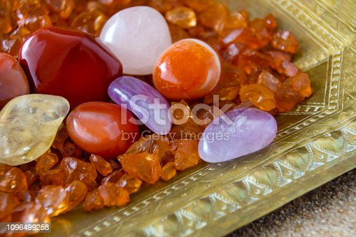 istock Gemstones against golden background 1096499258