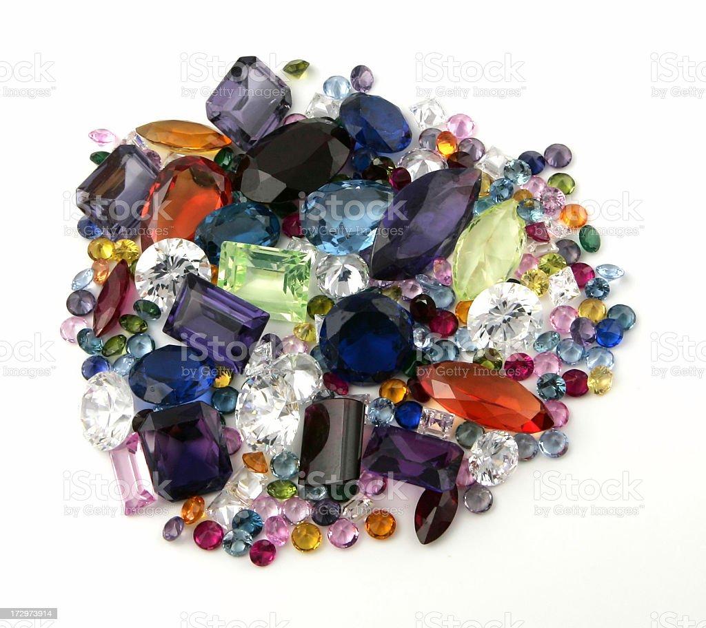 Gemstones on White royalty-free stock photo