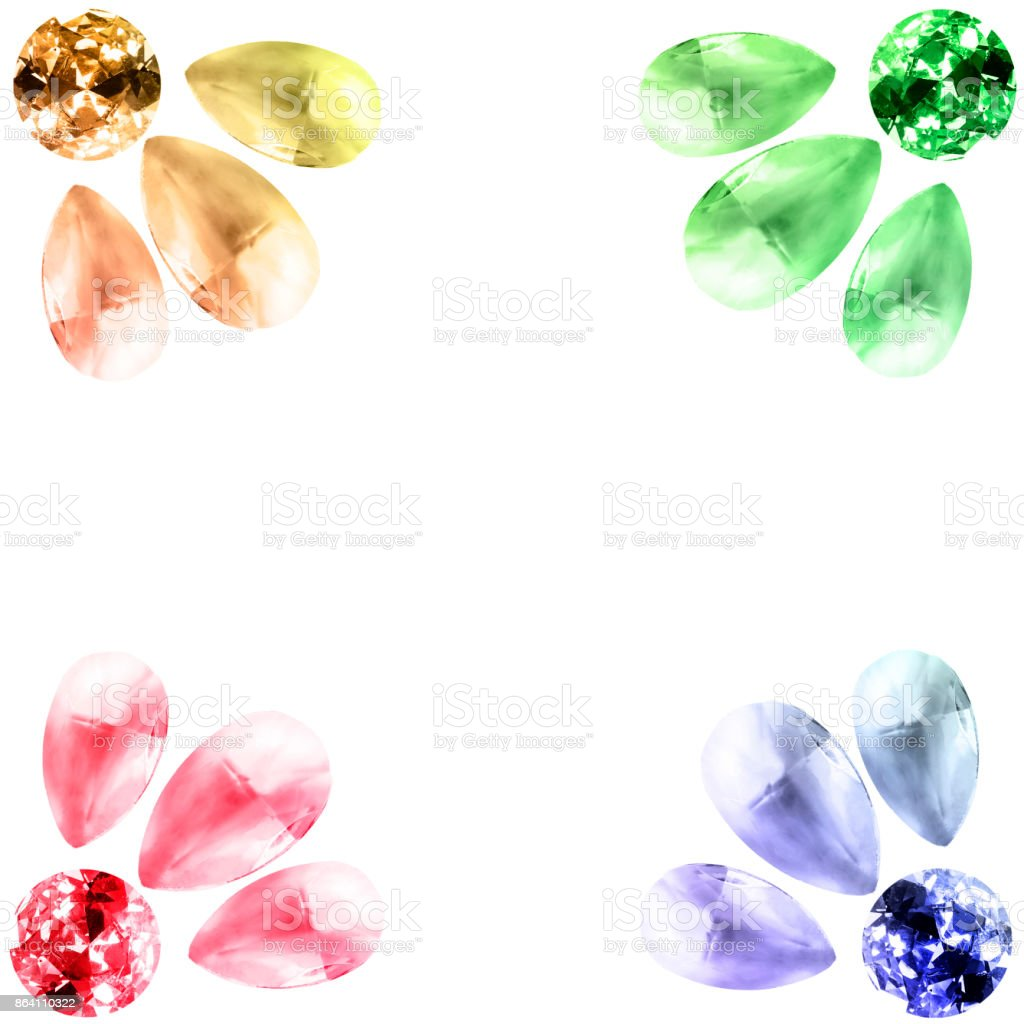 Gemstones on white royalty-free stock photo
