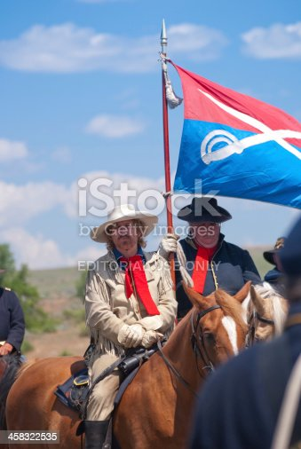 800485914istockphoto Gen. George Armstrong Custer at the Little Bighorn 458322535