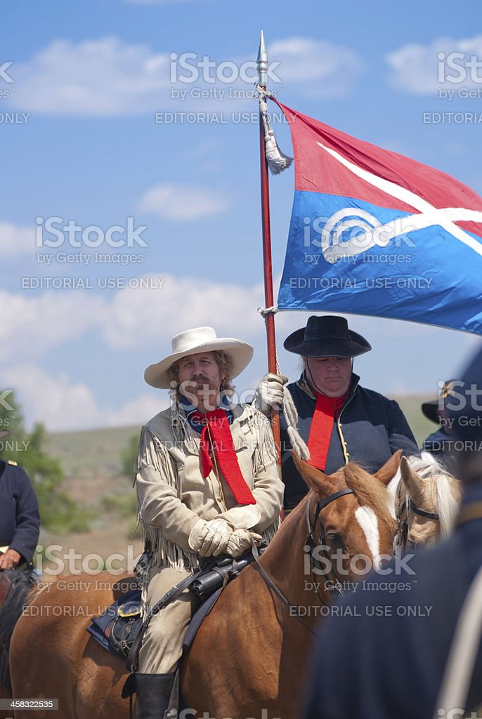 Gen. George Armstrong Custer at the Little Bighorn stock photo