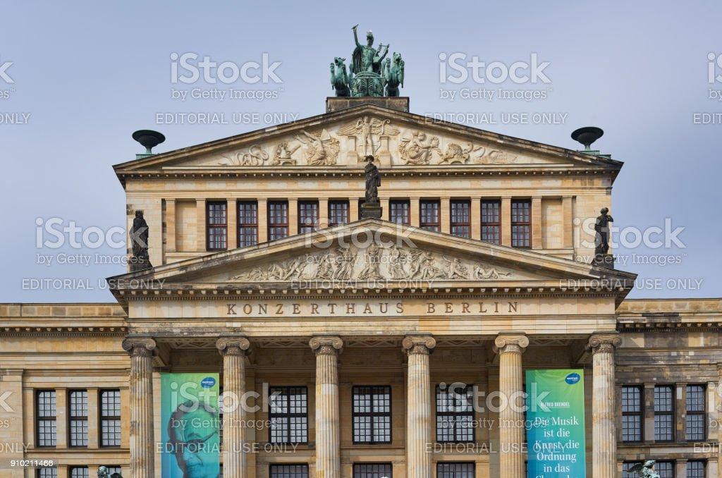 Gendarmenmarkt market at the center of Berlin stock photo