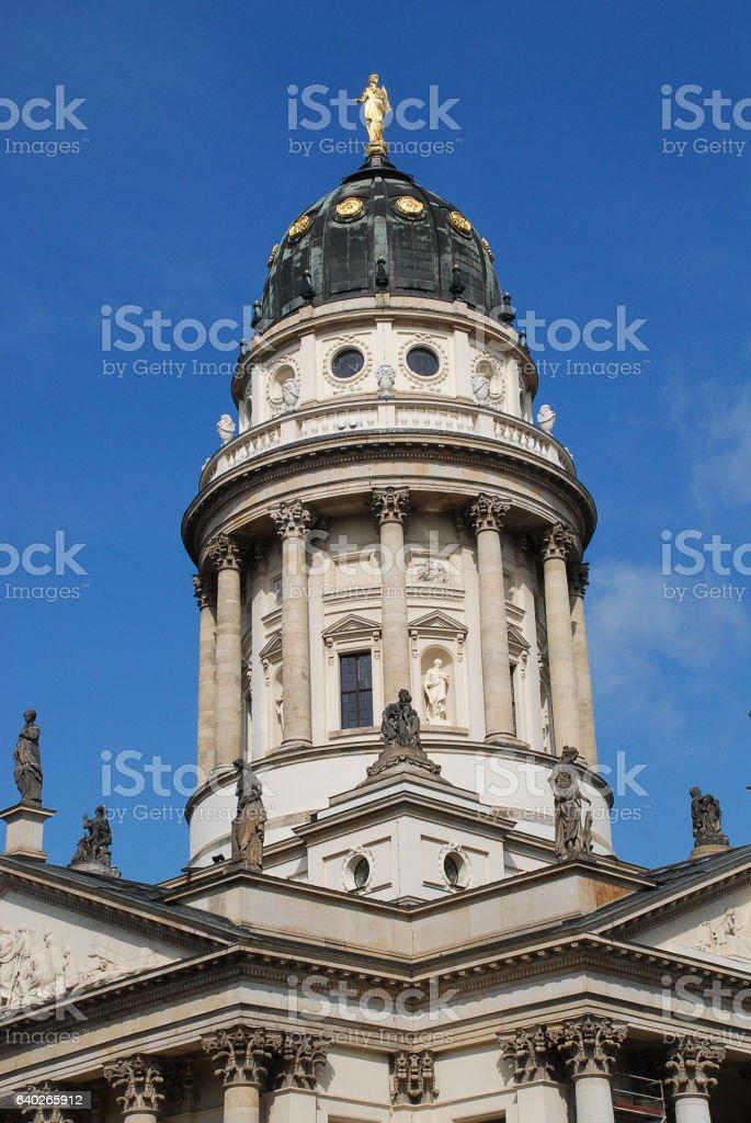 Gendarmenmarkt (Berlin, Germany): The German Church, in German: Deutscher Dom stock photo
