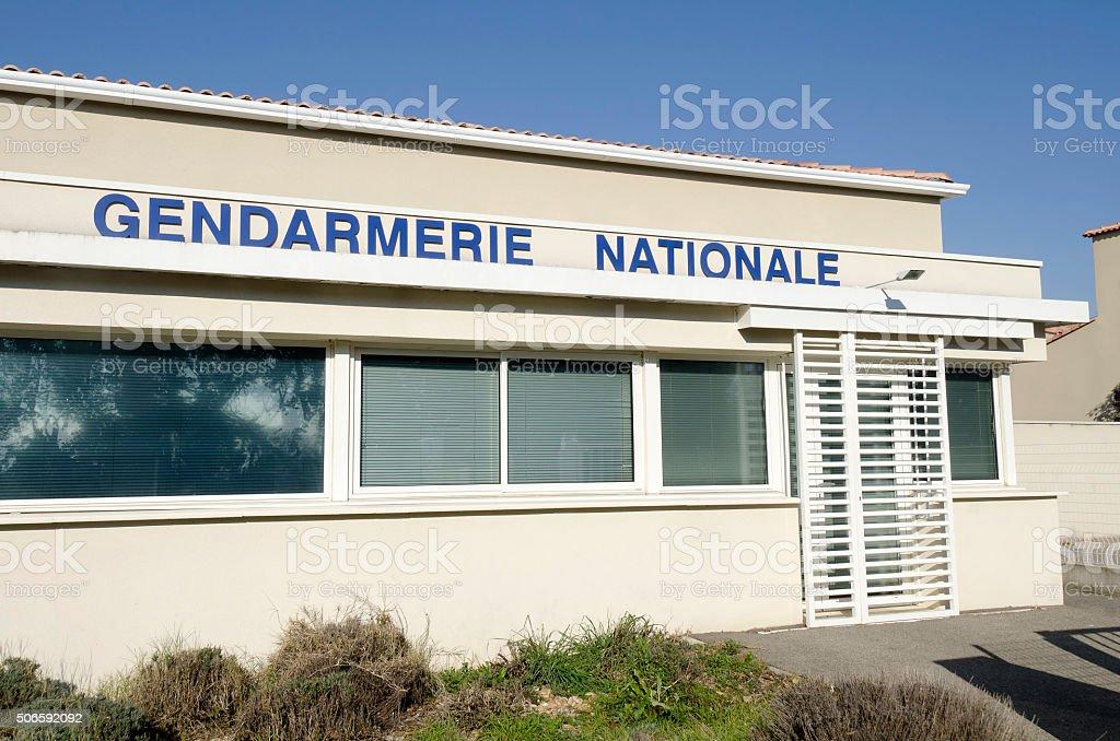 Gendarmerie, french police stock photo