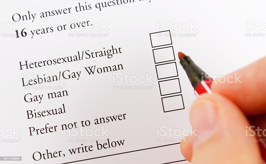 Gender choice Sexual issues Application Form Stock Photo