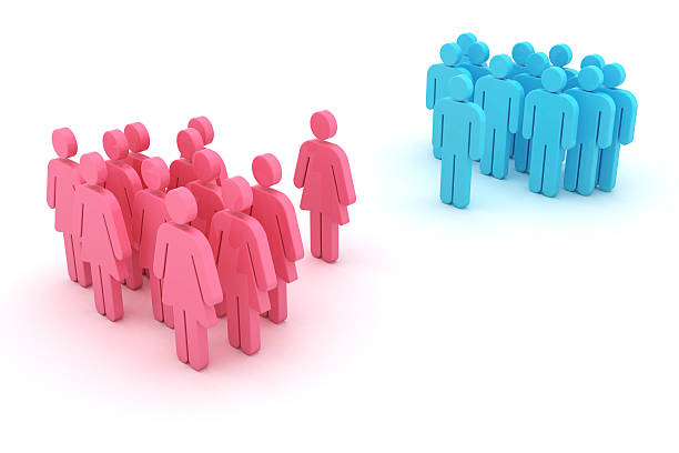 gender confrontation - battle of the sexes concept stock pictures, royalty-free photos & images