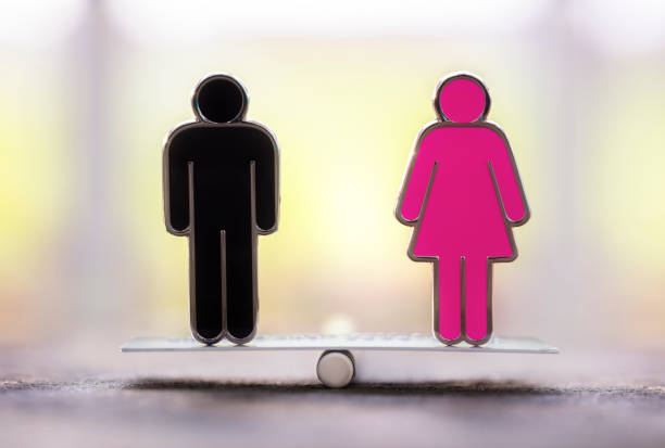 Gender equality and womens rights stock photo