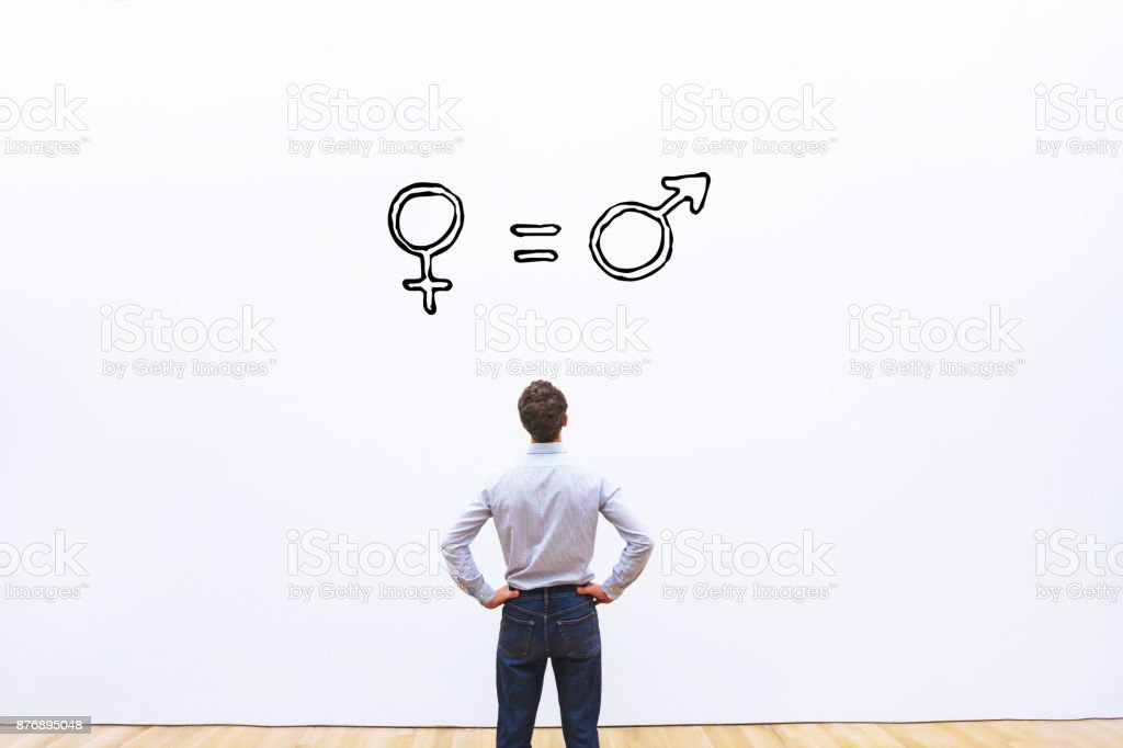 gender equality concept stock photo