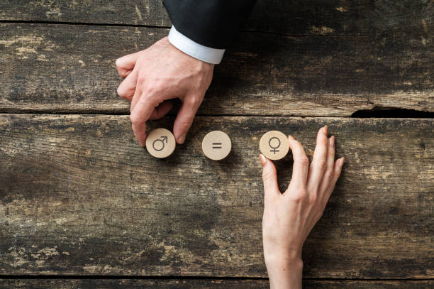 Gender equality conceptual image stock photo