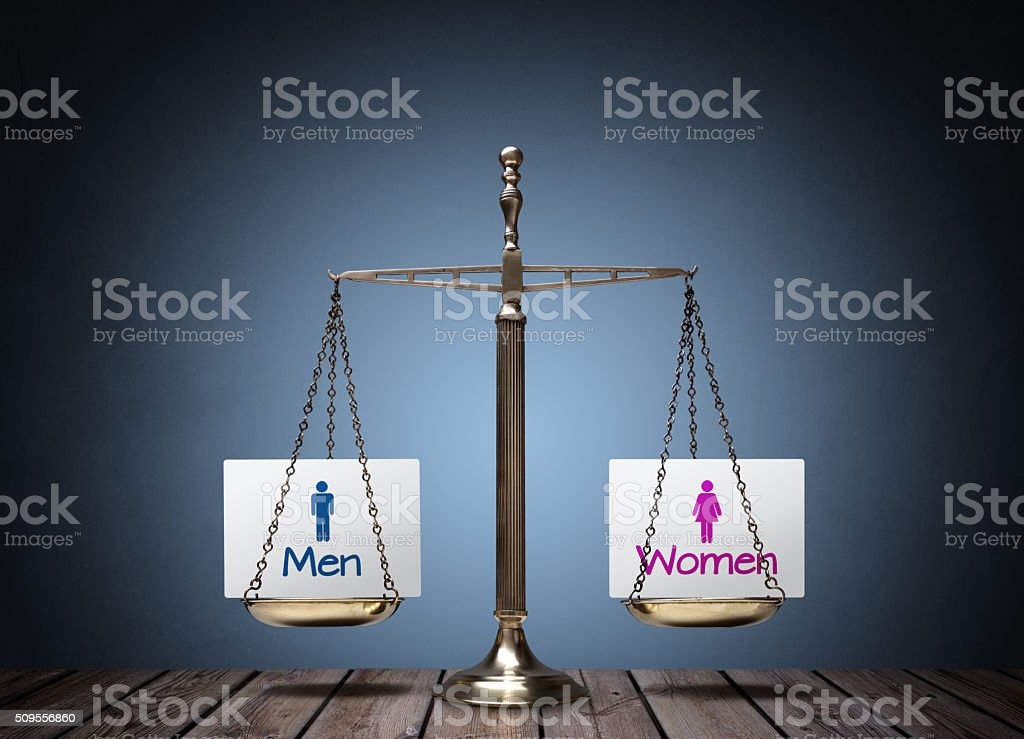 Gender equality bildbanksfoto