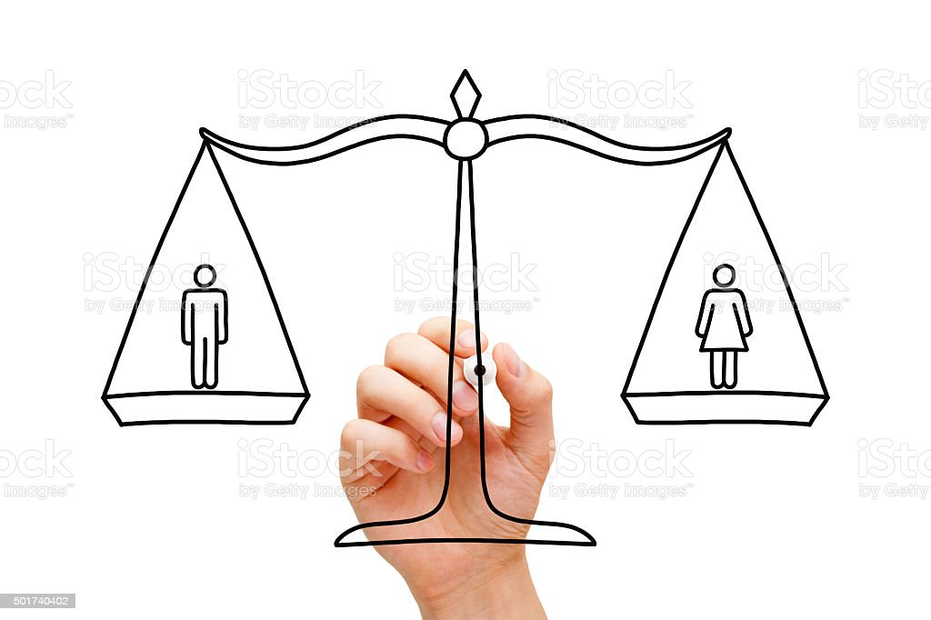 Gender Equality Scale Concept stock photo