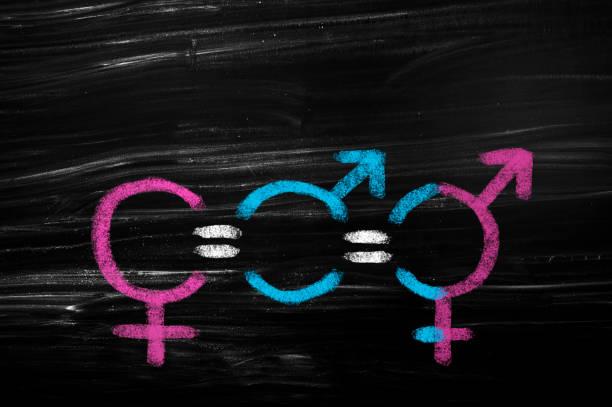 Gleichstellung der Geschlechter,männlich, weiblich und intersexuell – Foto