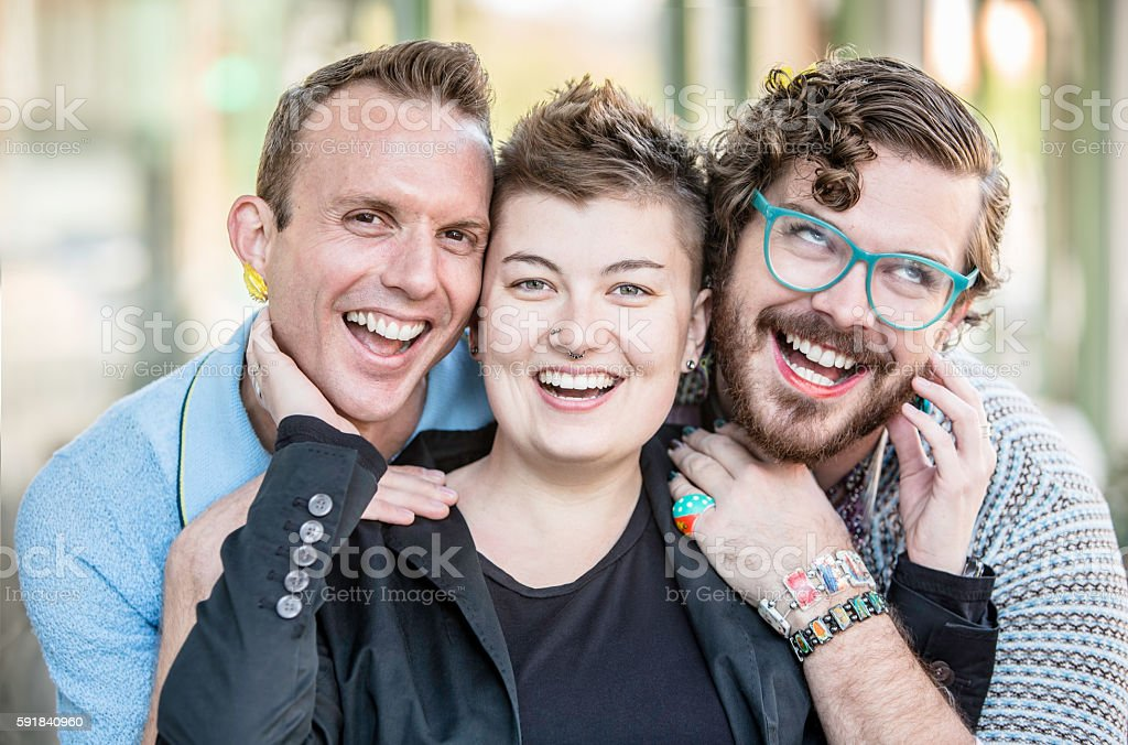 Gender Fluid Young People Having Fun stock photo