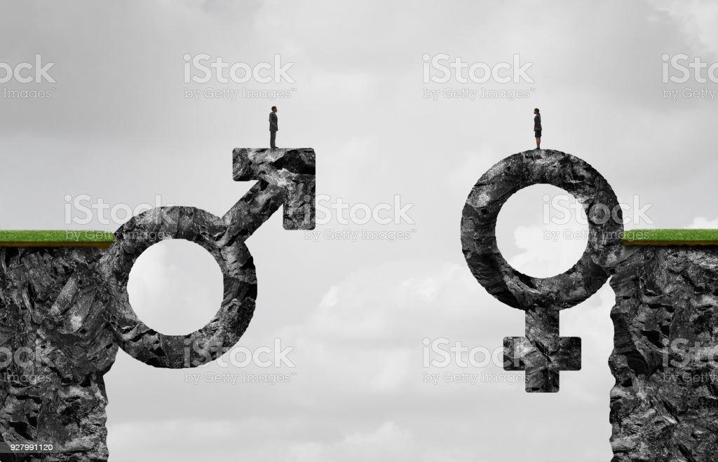 Gender Gap Idea stock photo