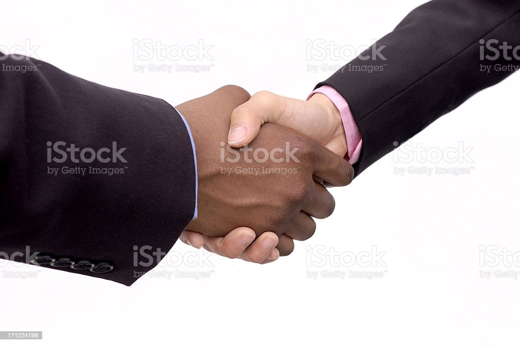 gender handshake stock photo