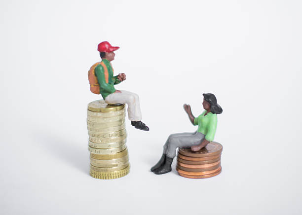 gender inequality unfairness - uneven stock photos and pictures