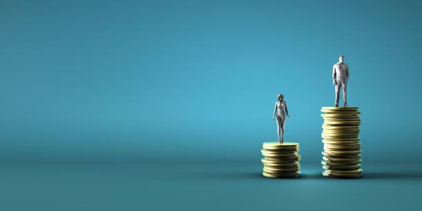 Gender Pay Inequality stock photo
