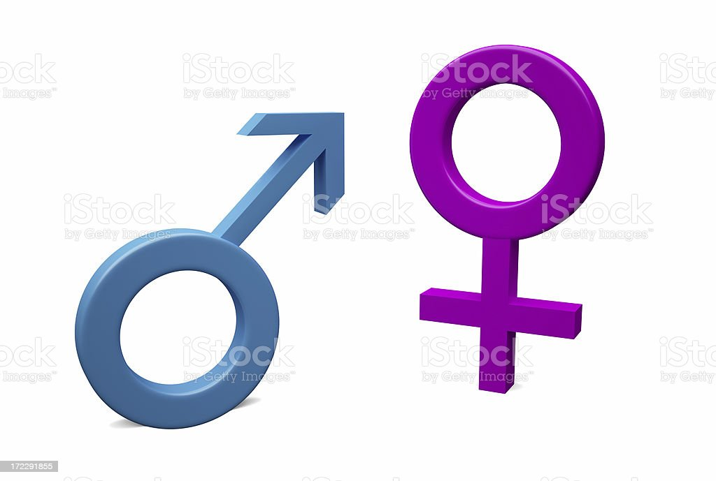 Gender Signs royalty-free stock photo