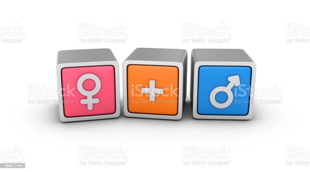 Gender Symbols Blocks royalty-free stock photo