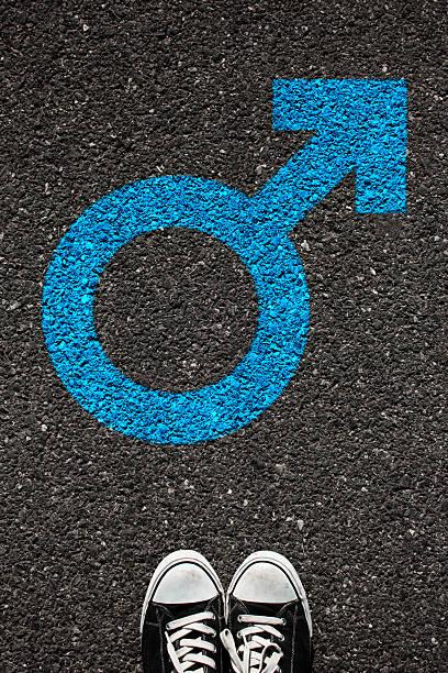Símbolo de Sexo masculino - foto de acervo