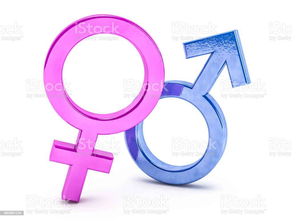 Fotografía De Símbolos De Género De Hombre Y Mujer Render 3d Y Más