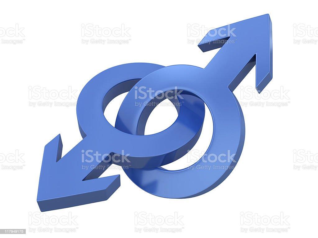 Gender symbols. royalty-free stock photo