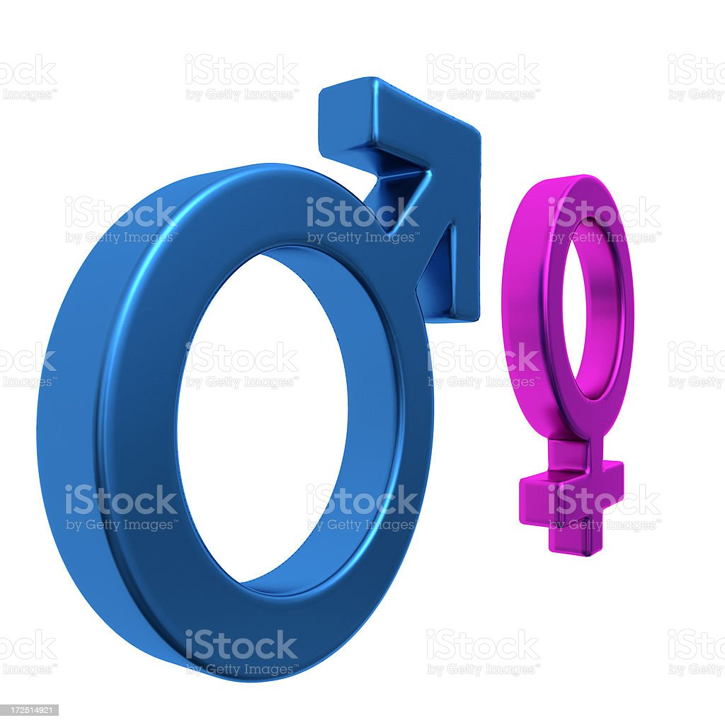 Gender Symbols royalty-free stock photo
