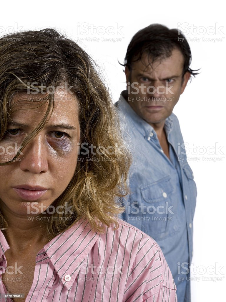 Gender violence royalty-free stock photo