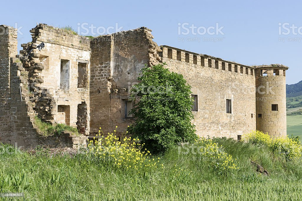 Gendulain Ruins. St. James Way. Navarre, Spain. stock photo
