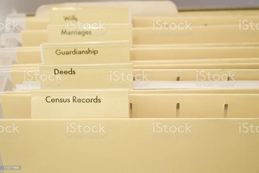 Genealogy Folders stock photo