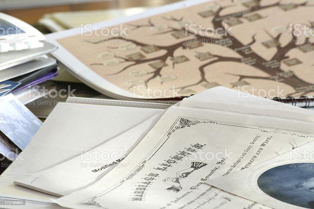 Genealogia del matrimonio ricerca - foto stock
