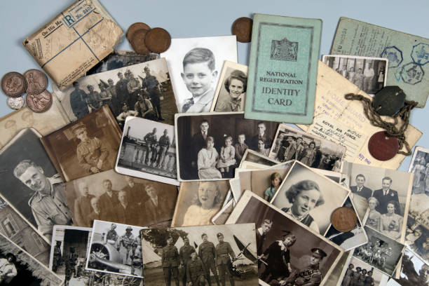 家譜-我的家庭歷史-古老的家庭照片可追溯到1890年左右, 直到1950年左右。 - 族譜 個照片及圖片檔