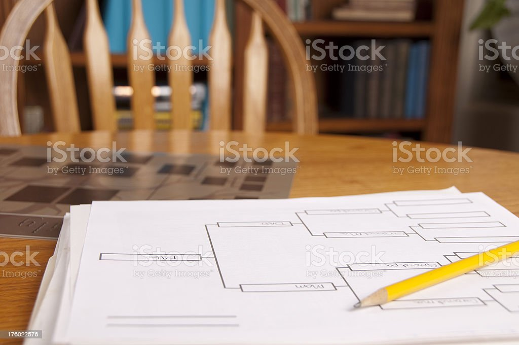 Genealogy Research royalty-free stock photo