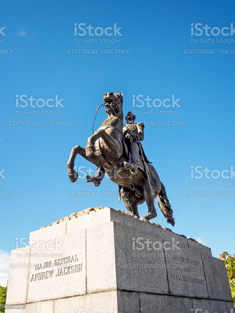 General Andrew Jackson on a  Horse #2 stock photo