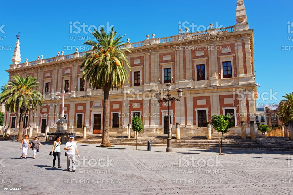 General Archive of Indies in Seville stock photo