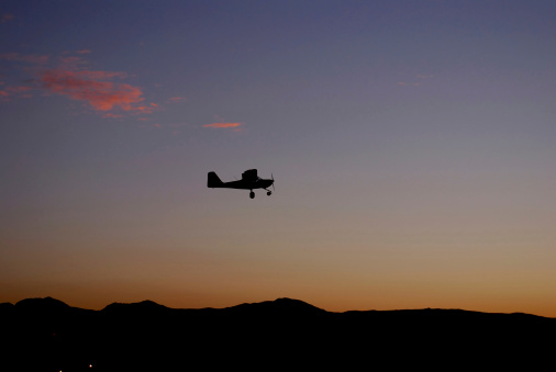 General Aviation at Sunset