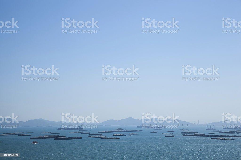 General cargo ship stock photo
