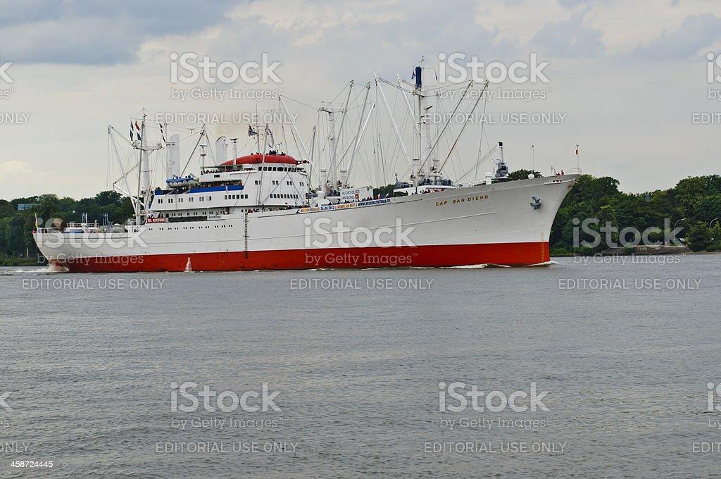 General cargo vessel Cap San Diego stock photo